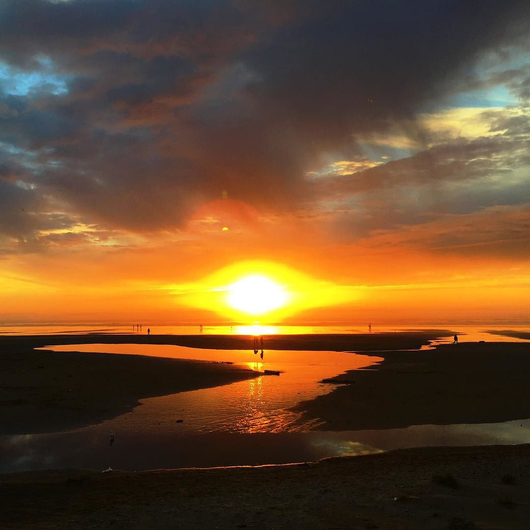 Stephanie Inn Dining Room: Last Night's Incredible Cannon Beach Sunset, As Seen From