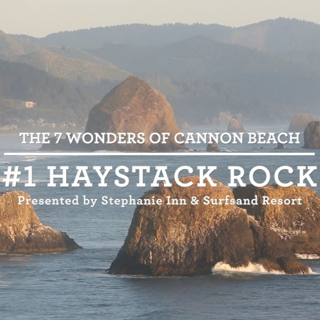 Reason #1 of so many why we love Cannon Beach. Haystack Rock is our backyard.  #Surfsand #LoveWhereYouLive #ExploreCannonBeach #OregonCoast #CannonBeach #TravelOregon #OregonExplored #PNW #PeoplesCoast