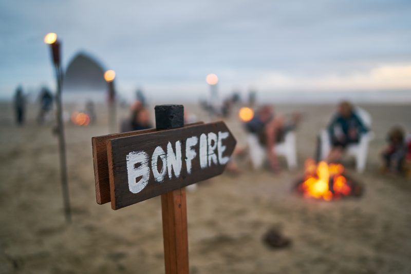 Bonfires in Cannon Beach