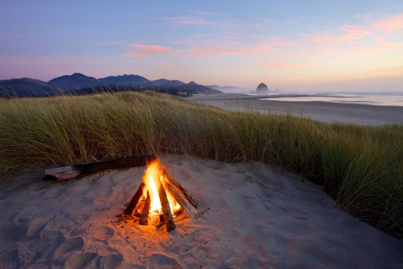 Bonfire in the dunes