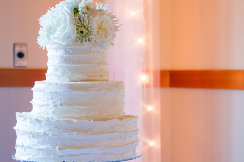Bridal ballroom wedding cake