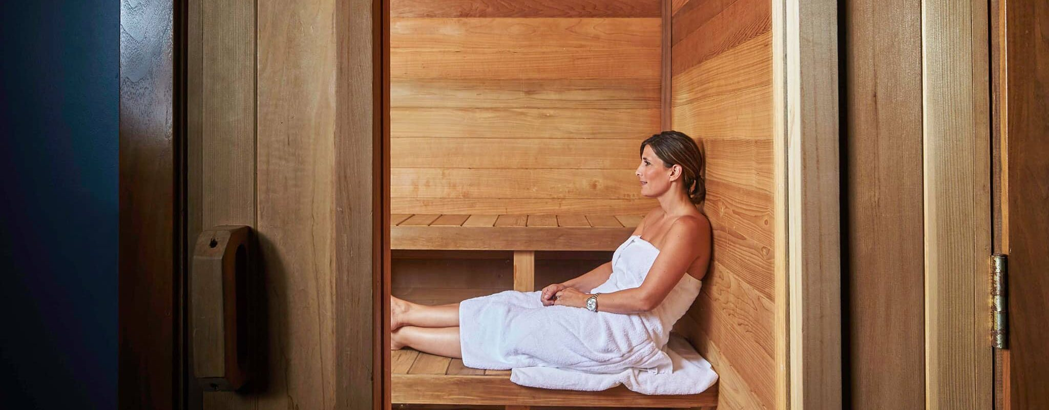 Relax in the sauna.